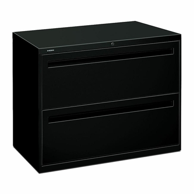 Hon 2-Drawer Lateral Filing Cabinet in Black - HON782LP