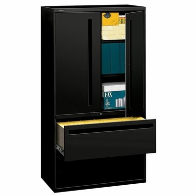 Hon 2-Drawer Lateral Filing Cabinet in Black - HON785LSP