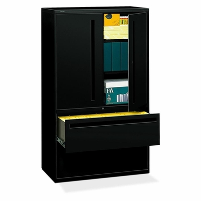Hon 2-Drawer Lateral Filing Cabinet in Black - HON795LSP