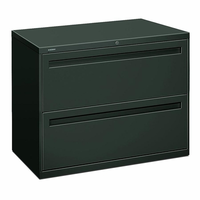 Hon 2-Drawer Lateral Filing Cabinet in Charcoal - HON782LS