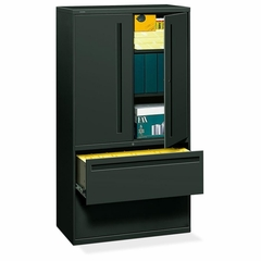 Hon 2-Drawer Lateral Filing Cabinet in Charcoal - HON785LSS