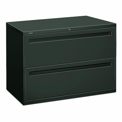 Hon 2-Drawer Lateral Filing Cabinet in Charcoal - HON792LS