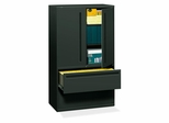 Hon 2-Drawer Lateral Filing Cabinet in Charcoal - HON795LSS