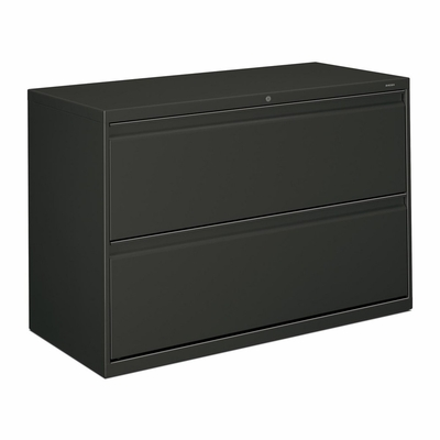 Hon 2-Drawer Lateral Filing Cabinet in Charcoal - HON892LS