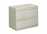 Hon 2-Drawer Lateral Filing Cabinet in Light Gray - HON782LQ