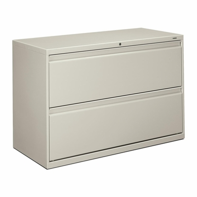 Hon 2-Drawer Lateral Filing Cabinet in Light Gray - HON892LQ