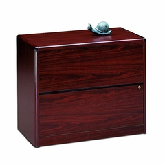 Hon 2-Drawer Lateral Filing Cabinet in Mahogany - HON10762N
