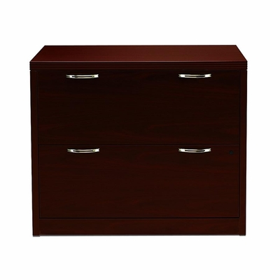 Hon 2-Drawer Lateral Filing Cabinet in Mahogany - HON11563AFNN