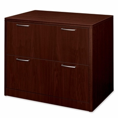 Hon 2-Drawer Lateral Filing Cabinet in Mahogany - HON118690NN