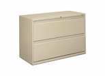 Hon 2-Drawer Lateral Filing Cabinet in Putty - HON892LL