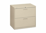 Hon 2-Drawer Lateral Filing Cabinet - Putty - HON572LL