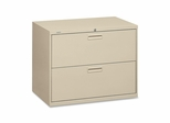Hon 2-Drawer Lateral Filing Cabinet - Putty - HON582LL