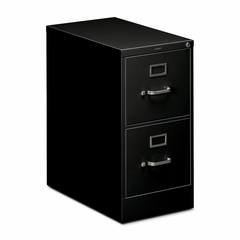 Hon 2-Drawer Letter File Cabinet - Black - HON512PP