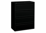 Hon 4-Drawer Lateral Filing Cabinet in Black - HON794LP