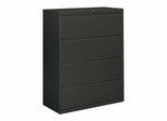 Hon 4-Drawer Lateral Filing Cabinet in Charcoal - HON894LS
