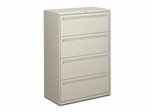 Hon 4-Drawer Lateral Filing Cabinet in Light Gray - HON784LQ