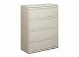 Hon 4-Drawer Lateral Filing Cabinet in Light Gray - HON794LQ
