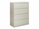 Hon 4-Drawer Lateral Filing Cabinet in Light Gray - HON894LQ