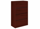 Hon 4-Drawer Lateral Filing Cabinet in Mahogany - HON10516NN