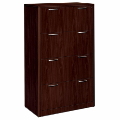 Hon 4-Drawer Lateral Filing Cabinet in Mahogany - HON118699NN