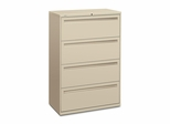 Hon 4-Drawer Lateral Filing Cabinet in Putty - HON784LL