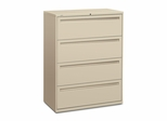 Hon 4-Drawer Lateral Filing Cabinet in Putty - HON794LL