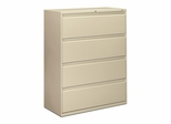 Hon 4-Drawer Lateral Filing Cabinet in Putty - HON894LL