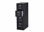 Hon 4-Drawer Vertical File Cabinet- Black - LLR60191