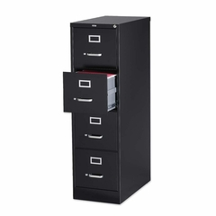 Hon 4-Drawer Vertical File Cabinet- Black - LLR60650