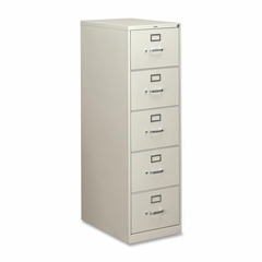 Hon 5 Drawer File Cabinet in Light Gray - HON315CPQ