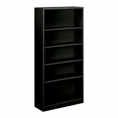 Hon 5 Shelf Black Metal Bookcase - HONS72ABCP
