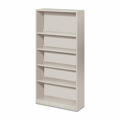 Hon 5 Shelf Light Gray Metal Bookcase - HONS72ABCQ