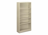 Hon 5 Shelf Putty Metal Bookcase - HONS72ABCL