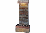 Horizontal Wall Fountain in Natural Slate - Kenroy Home - 50290SLCOP