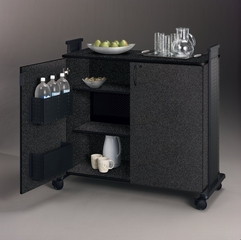 Hospitality Mobile Cart in Anthracite - Mayline Office Furniture - 1015HCANTBLK