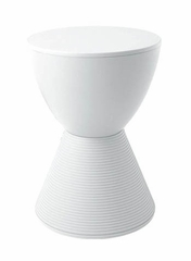 Hourglass Stool in White - DC-204-WHITE