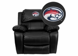 Houston Cougars Embroidered Black Leather Rocker Recliner  - MEN-DA3439-91-BK-45022-EMB-GG