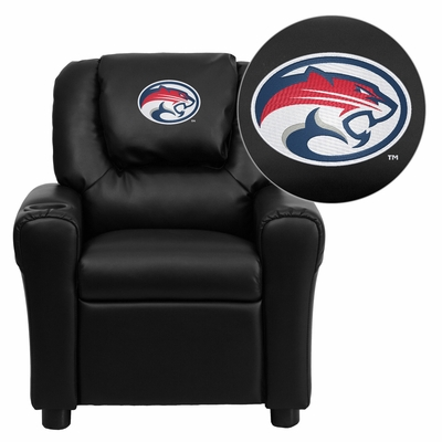 Houston Cougars Embroidered Black Vinyl Kids Recliner - DG-ULT-KID-BK-45022-EMB-GG