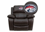 Houston Cougars Embroidered Brown Leather Rocker Recliner  - MEN-DA3439-91-BRN-45022-EMB-GG