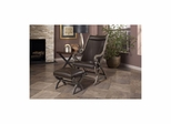 Hunter Brown Leather Chair and Ottoman - Largo - LARGO-ST-L820