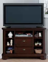 Hunter Cherry Casual Corner TV Stand with Storage - 047-9