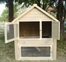 Huntington Townhouse 2-Story Rabbit Hutch in Natural Cedar - NewAgeGarden - ECORH203