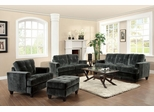 Hurley Charcoal Sofa, Loveseat, Chair and Ottoman - 503521