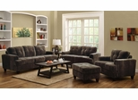 Hurley Chocolate Sofa, Loveseat, Chair and Ottoman - 503541