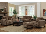 Hurley Mocha Sofa, Loveseat, Chair and Ottoman - 503531