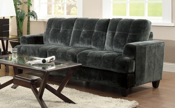 Hurley Urban Tufted Charcoal Sofa - 503521