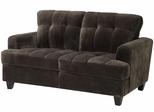 Hurley Urban Tufted Chocolate Loveseat - 503542