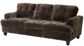 Hurley Urban Tufted Chocolate Sofa - 503541