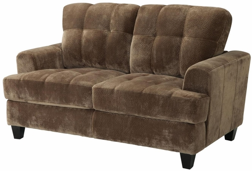 Hurley Urban Tufted Mocha Loveseat - 503532