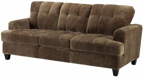 Hurley Urban Tufted Mocha Sofa - 503531